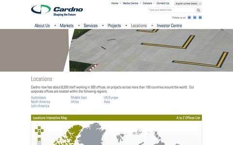 Screenshot of Locations Page cardno.com - Locations - captured Oct. 1, 2014