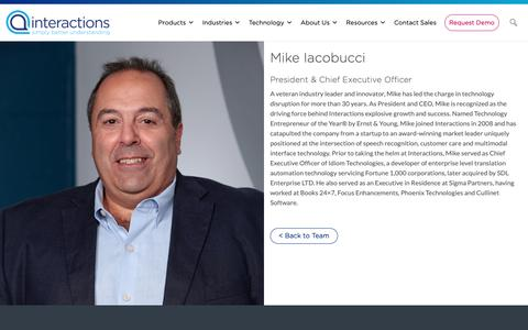 Screenshot of Team Page interactions.com - Mike Iacobucci - Interactions - captured Feb. 8, 2019