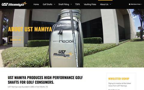 Screenshot of About Page ustmamiya.com - About UST Mamiya - captured May 26, 2017