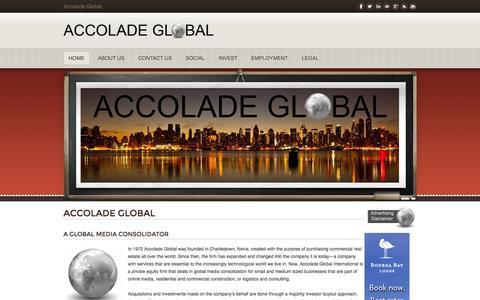 Screenshot of Home Page accoladeglobal.com - Accolade Global - Accolade Global-Official Site - captured Sept. 30, 2014