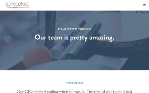 Screenshot of Team Page qonceptual.com - Qonceptual - Team - captured Jan. 27, 2016