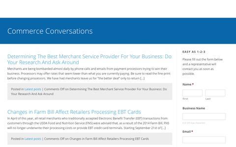 Screenshot of Blog bigskycommerce.com - Big Sky Commerce | We make payments easy. - captured June 1, 2017