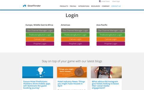 Screenshot of Login Page siteminder.com - SiteMinder Login - Login to SiteMinder's Cloud Platform - captured May 8, 2017