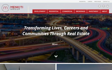 Screenshot of Home Page menkitigroup.com - The Menkiti Group   Real Estate Residential, Commercial, and Development in the greater Washington DC area - captured March 20, 2019