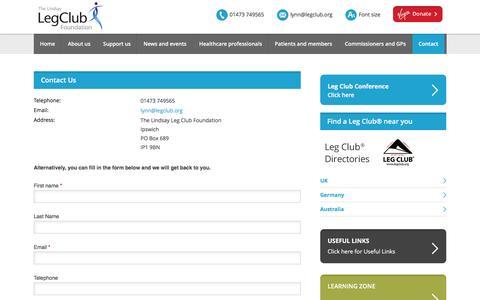 Screenshot of Contact Page legclub.org - Contact us - captured Dec. 1, 2016