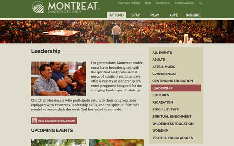 Screenshot of Team Page montreat.org - Leadership | Montreat Conference Center - captured Oct. 26, 2014