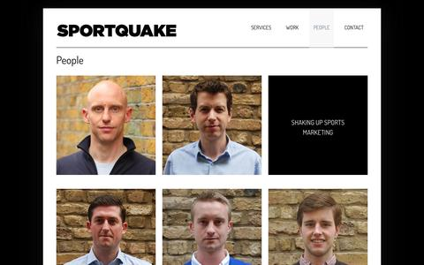 Screenshot of Team Page sportquake.com - People  –   SportQuake | Sports Marketing Agency | Shaking Up Sport - captured Oct. 7, 2014