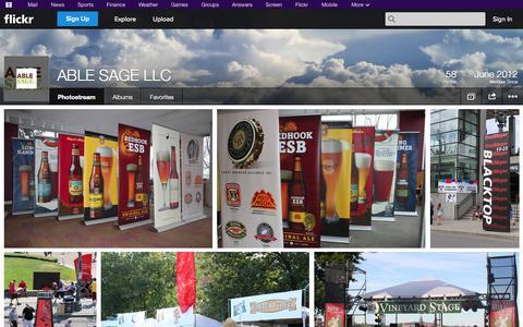 Screenshot of Flickr Page flickr.com - Flickr: ABLE SAGE LLC's Photostream - captured Oct. 23, 2014