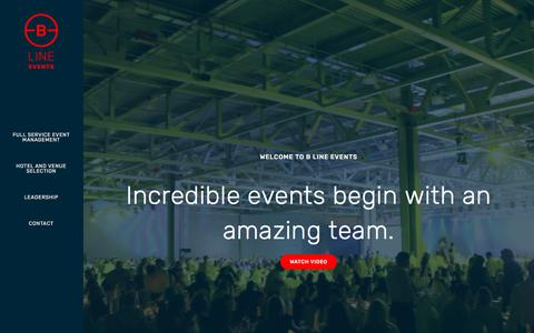 Screenshot of Home Page blineevents.com - B Line Events | Event Planning and Event Management Services - captured July 12, 2017