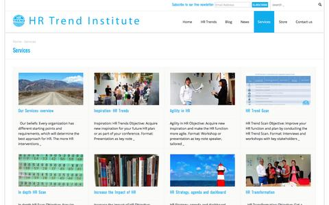 Screenshot of Services Page hrtrendinstitute.com - Services The HR Trend institute provides | HR Trend Institute HR Trend Institute - captured May 13, 2017