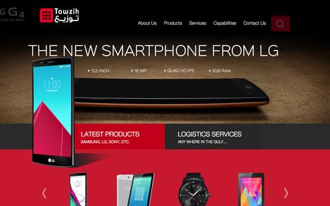 Screenshot of Home Page tawzih.com - Apple, Sony, LG Mobile Phone Distributor/Dealers in Saudi Arabia - Tawzih - captured Sept. 5, 2015
