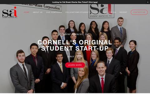 Screenshot of Home Page studentagencies.com - Student Agencies, Inc. - captured Oct. 8, 2014