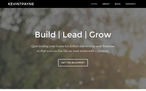 Screenshot of Home Page kevintpayne.com - Home - Kevintpayne - - captured Jan. 15, 2016