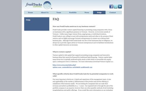 Screenshot of FAQ Page freshtrackscap.com - FAQ - Frequently Asked Questions - captured Oct. 6, 2014