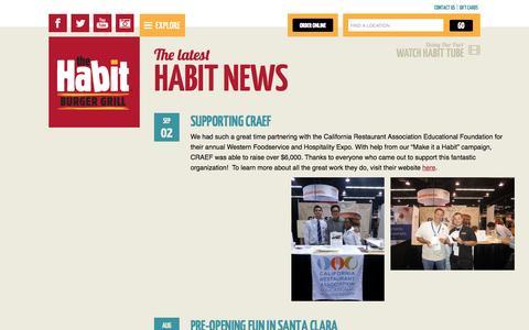 Screenshot of Press Page habitburger.com - The latest Habit News | Habit Burger - captured Oct. 26, 2014