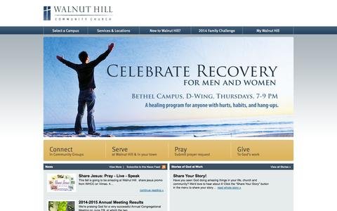 Screenshot of Home Page walnuthillcc.org - Walnut Hill Community Church - captured Oct. 6, 2014