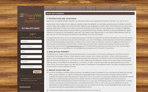 Screenshot of Terms Page thorovet.com - Terms and Conditions   ThoroVet - captured Oct. 9, 2014