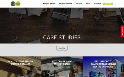 Screenshot of Case Studies Page njadvancemedia.com - Case Studies - NJ Advance Media - captured June 15, 2018