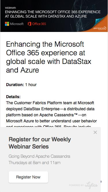 Enhancing the Microsoft Office 365 experience at global scale with DataStax and Azure