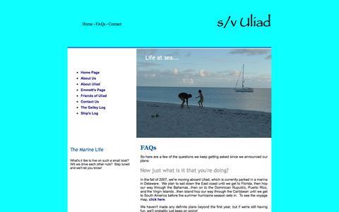 Screenshot of FAQ Page uliad.net - FAQs - captured March 3, 2017