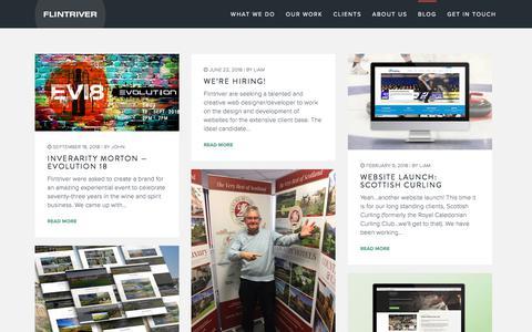 Screenshot of Blog flintriver.co.uk - Blog - Flintriver - captured Aug. 3, 2019