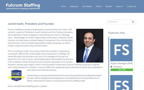 Screenshot of About Page fulcrumstaffing.com - About - Fulcrum Staffing - captured Nov. 20, 2018