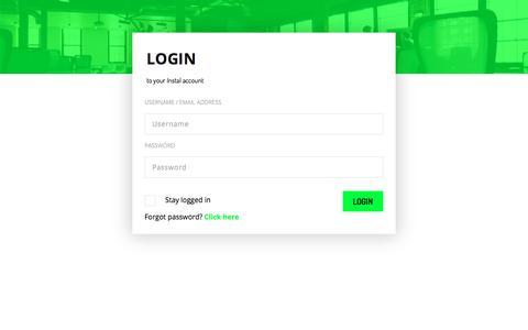 Screenshot of Login Page instal.com - Instal.com - Monetize Your Mobile Traffic - captured Sept. 19, 2018