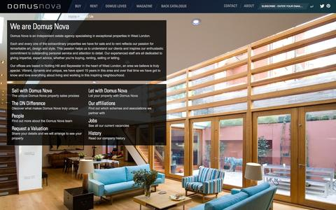 Screenshot of About Page domusnova.com captured Nov. 1, 2014