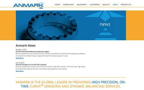 Screenshot of Press Page anmark.com - News — Anmark - captured Sept. 30, 2014