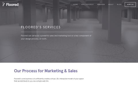 Screenshot of Services Page floored.com - Services — Floored - captured Dec. 17, 2014