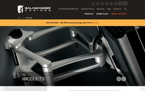 Screenshot of Products Page salamanderdesigns.com - Custom Home Entertainment Furniture | AV Cabinets | Hom - Salamander Designs - captured July 27, 2018