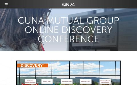 Screenshot of Case Studies Page on24.com - Case Study: Virtual events save CUNA $1.5M annually   ON24 - captured Oct. 12, 2017