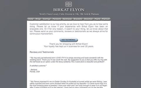 Screenshot of Testimonials Page birkatelyon.com - Birkat Elyon Reviews and Testimonials - captured Sept. 19, 2014