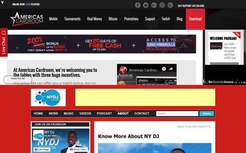 Screenshot of About Page nydjlive.com - Know More About NY DJ - NYDJ Live - captured Dec. 20, 2018