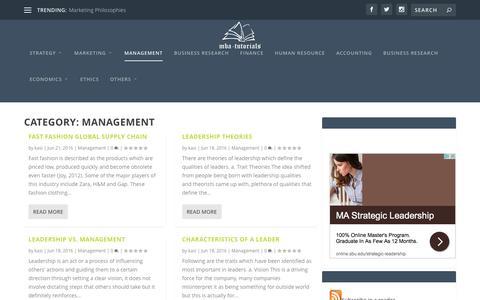 Screenshot of Team Page mba-tutorials.com - Management   MBA Tutorials - captured July 20, 2016