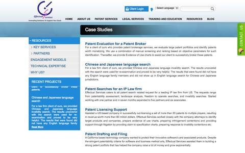 Screenshot of Case Studies Page effectualservices.com - Case Studies - captured Sept. 25, 2014