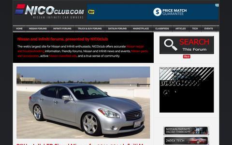 Screenshot of Home Page nicoclub.com - NICO Club - Nissan Forums | Infiniti Forums - captured Oct. 2, 2015