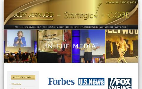 Screenshot of Press Page startegic.com - In The Media – New Judy Jernudd Site - captured Dec. 16, 2016