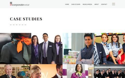Screenshot of Case Studies Page incorporatewear.co.uk - Case Studies Archive - Incorporatewear - captured Oct. 15, 2017