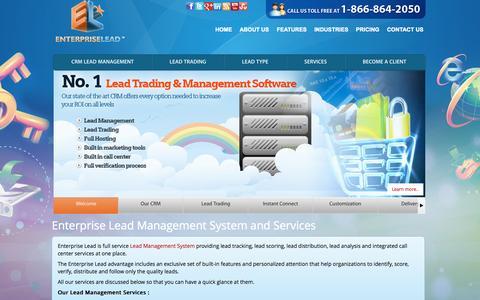 Screenshot of Services Page enterpriselead.com - Enterprise Lead Management System and Services - captured Sept. 30, 2014