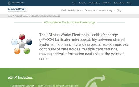 eClinicalWorks Electronic Health eXchange - eClinicalWorks