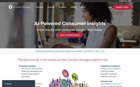 Screenshot of Case Studies Page wpengine.com - Crimson Hexagon – AI-Powered Consumer Insights - captured June 19, 2018