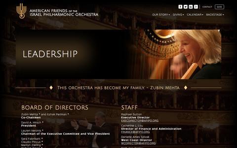 Screenshot of Team Page afipo.org - Board of Directors LeadershipAFIPO - captured Feb. 6, 2016