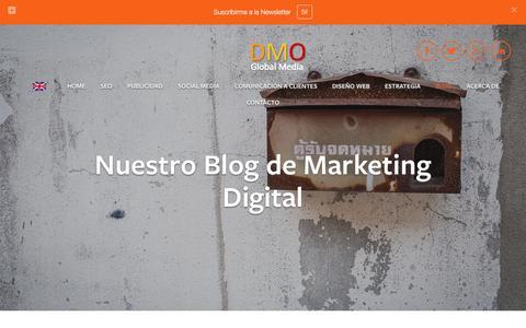 Screenshot of Blog dmoglobalmedia.com - Blog Marketing Digital Ń DMO Global Media - captured Jan. 7, 2016