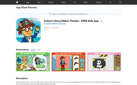 Arthur's Story Maker: Pirates – FREE Kids App on the App Store