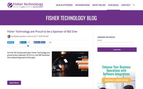 Screenshot of Blog fisher-technology.com - Business Process Automation Blog by Fisher Technology - captured Oct. 14, 2017