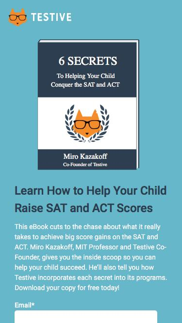 6 Secrets to Conquering the SAT and ACT Ebook | Testive