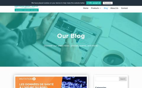 Screenshot of Blog Press Page bmi-system.com - Blog   Discover our last news and events   BMI SYSTEM - captured Nov. 6, 2018