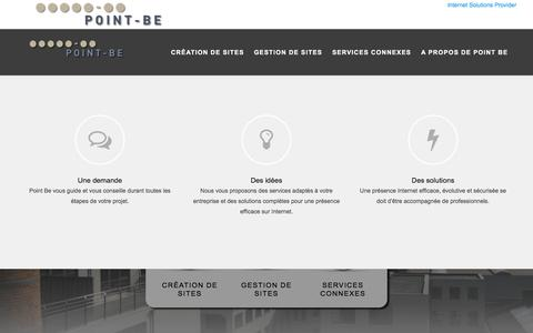 Screenshot of Home Page point-be.be - POINT BE - Web Agency - captured July 19, 2018