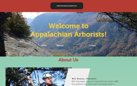 Screenshot of About Page appalachianarborists.com - mysite | About - captured July 2, 2018
